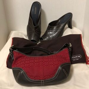 Coach Soho Hobo Jacquard & Leather Purse Bag